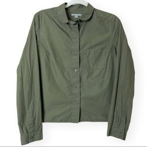 COS Collection of Style green button down top